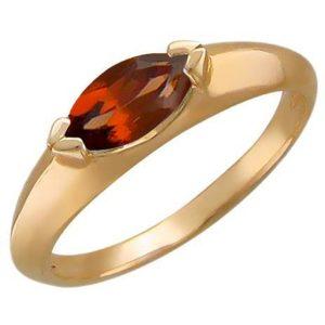 Кольцо с 1 гранатом из красного золота (арт. ж-7821к)