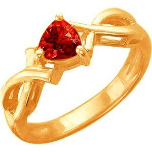 Кольцо с 1 гранатом из красного золота (арт. ж-8112к)