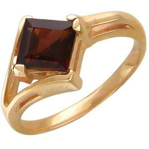 Кольцо с 1 гранатом из красного золота (арт. ж-7834к)