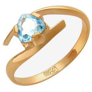 Кольцо с 1 топазом из красного золота (арт. ж-7841к)