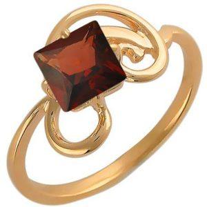 Кольцо с 1 гранатом из красного золота (арт.ж-8072к )