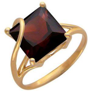 Кольцо с 1 гранатом из красного золота (арт. ж-7905к)