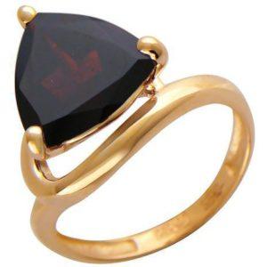 Кольцо с 1 гранатом из красного золота (арт. ж-8054к)