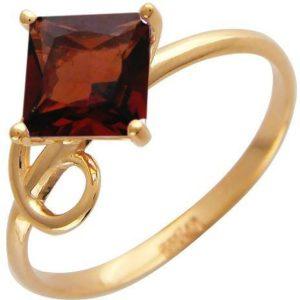 Кольцо с 1 гранатом из красного золота (арт. ж-7770к)
