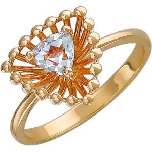 Кольцо с топазом из красного золота (арт.ж-8645к)
