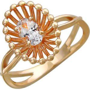 Кольцо с топазом из красного золота (арт. ж-8617к)