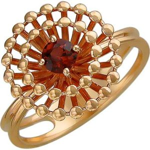 Кольцо с гранатом из красного золота (арт. ж-8613к)
