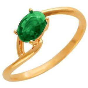 Кольцо с 1 изумрудом из красного золота (арт. ж-7899к)