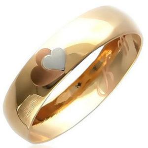 Обручальное кольцо из красного золота (арт. ж-8561к)