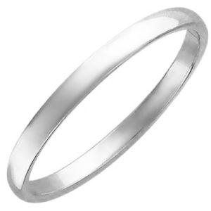 Обручальное кольцо из белого золота (арт. ж-9760к)