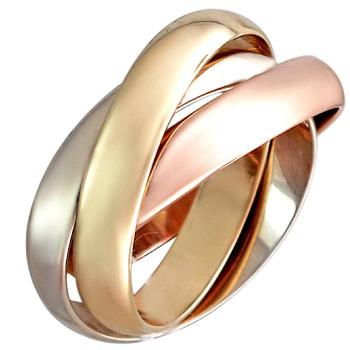 Обручальное кольцо Тринити из комбинированного золота (арт.ж-9776к)