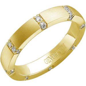 Кольцо с 32 бриллиантами из жёлтого золота (арт. ж-7808к)