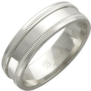 Обручальное кольцо из белого золота (арт. ж-8916к)