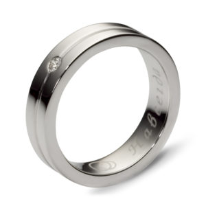 Кольцо с 1 бриллиантом из белого золота (арт. ж-7751к)