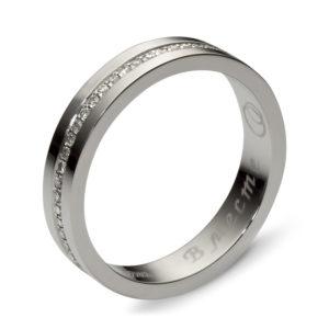 Ювелирное кольцо с бриллиантами из белого золота (арт. ж-7750к)