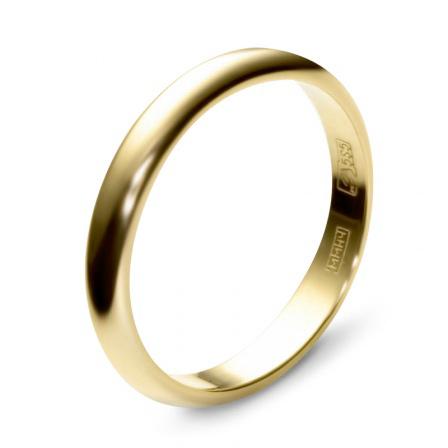Обручальное кольцо из желтого золота (арт. ж-9725к)