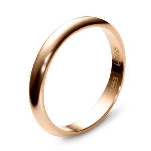 Обручальное кольцо из красного золота (арт. ж-9774к)