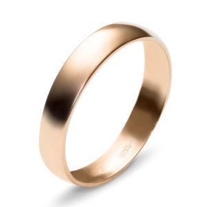 Обручальное кольцо из красного золота (арт.ж-9771к