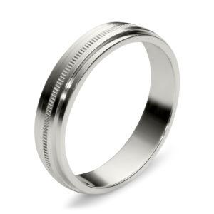 Обручальное кольцо из белого золота (арт. ж-9747к)