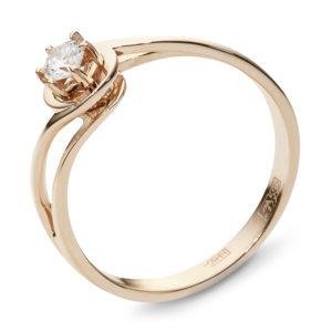 Кольцо с бриллиантом из красного золота (арт. ж-7654к)