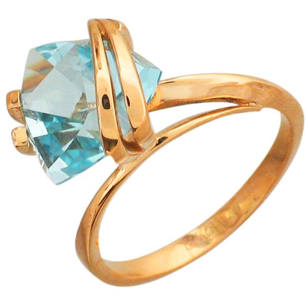 Кольцо с топазом из красного золота (арт. ж-8574к)