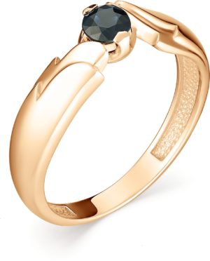 Кольцо с 1 сапфиром из красного золота (арт. ж-8002к)