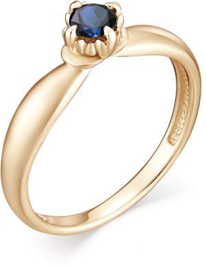 Кольцо с 1 сапфиром из красного золота (арт. ж-8323к)