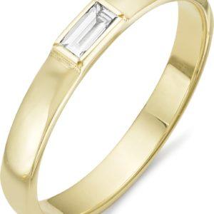 Кольцо с 1 бриллиантом из жёлтого золота (арт.ж-9329к)