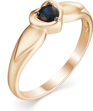 Кольцо с 1 сапфиром из красного золота (арт. ж-8921к)