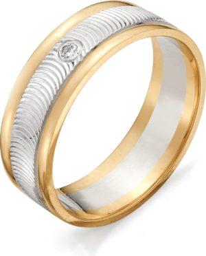 Кольцо с бриллиантом из красного золота (арт. ж-7681к)