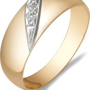 Кольцо с бриллиантами из красного золота (арт.ж-9172к)