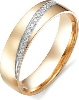Кольцо с бриллиантами из красного золота (арт. ж-9190к)