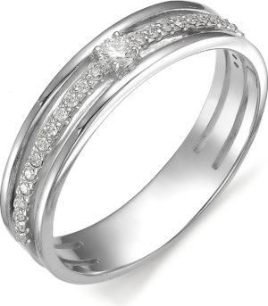 Кольцо с бриллиантом из белого золота 585 пробы (арт.ж-9732к)