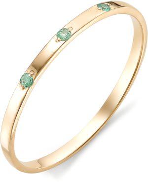 Кольцо с изумрудами из красного золота 585 пробы (арт. ж-8013к)