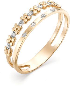 Кольцо Цветы с бриллиантами из красного золота (арт. ж-9367к)