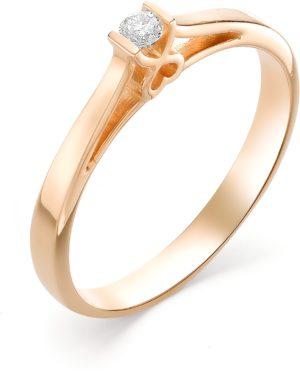 Кольцо с 1 бриллиантом из красного золота (арт. ж-9331к)