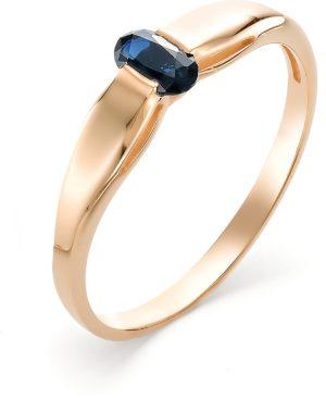 Кольцо с 1 сапфиром из красного золота (арт. ж-8947к)