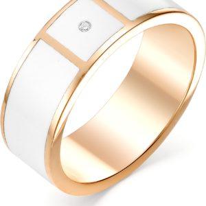 Кольцо с 1 бриллиантом из красного золота (арт. ж-9365к)