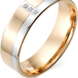 Кольцо с бриллиантами из красного золота (арт. ж-9332к)