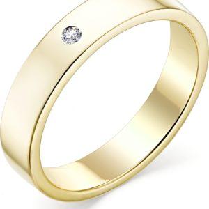 Кольцо с бриллиантом из желтого золота (арт.ж-9341к)