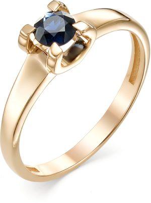 Кольцо с 1 сапфиром из красного золота (арт. ж-9527к)