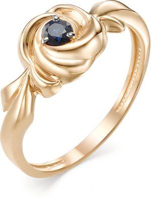 Кольцо с 1 сапфиром из красного золота (арт. ж-9523к)