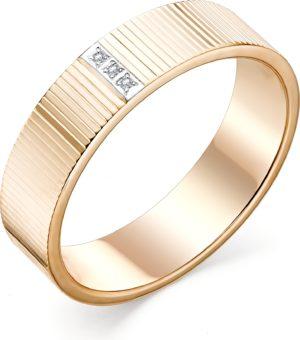 Кольцо с 3 бриллиантами из красного золота (арт. ж-9356к)
