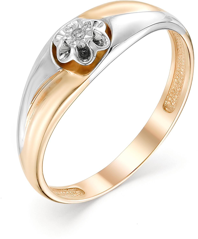 Кольцо с 1 бриллиантом из красного золота (арт. ж-9330к)