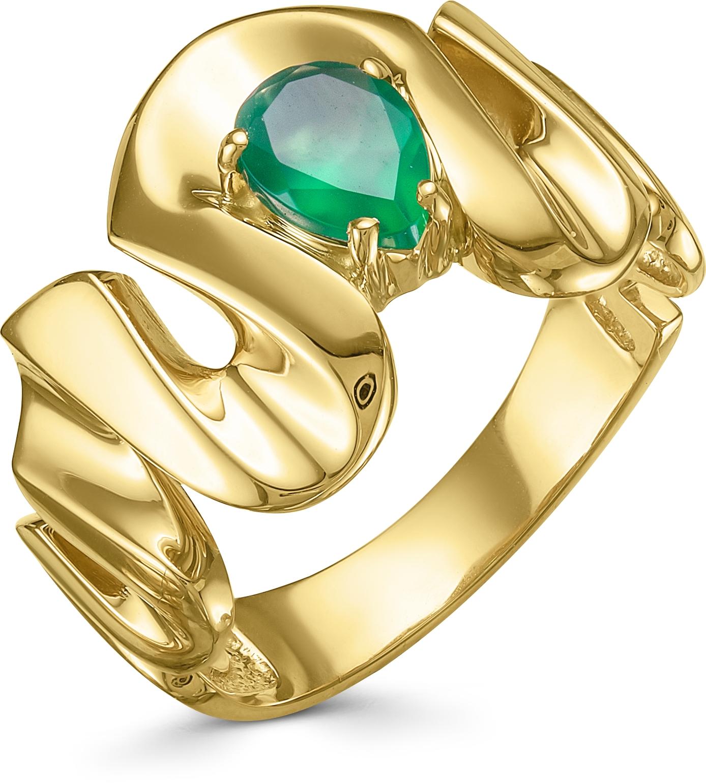 Кольцо с 1 агатом из красного золота (арт. ж-9344к)