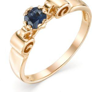 Кольцо с 1 сапфиром из красного золота (арт.ж-8755к)