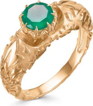 Кольцо с 1 агатом из красного золота (арт. ж-9133к)