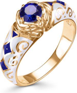 Кольцо с 1 сапфиром из красного золота (арт.ж-9384к)