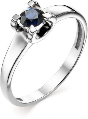 Кольцо с 1 сапфиром из белого золота (арт. ж-8923к)