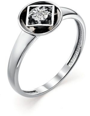 Кольцо с 1 бриллиантом из белого золота (арт.ж-8548к)